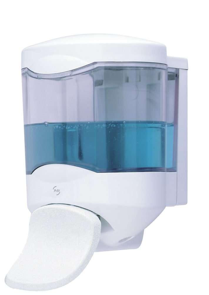 distributeur de savon et gel hydroalcoolique avec palette 450 ml